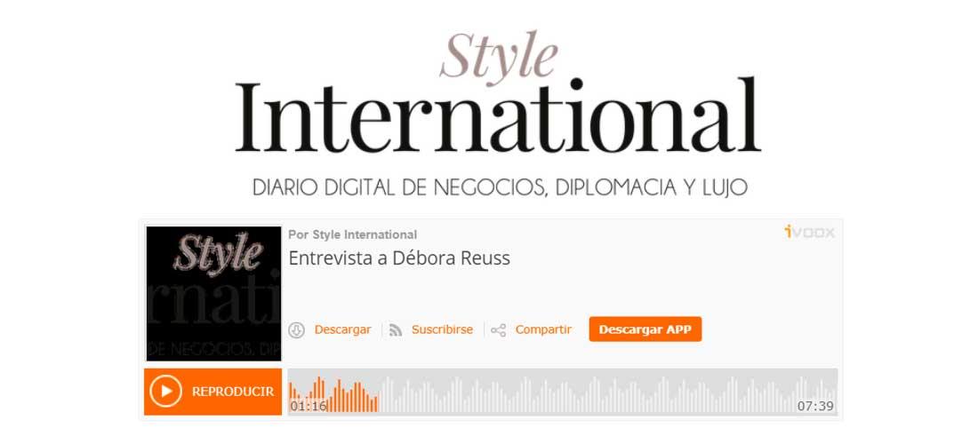 Entrevista en Style International